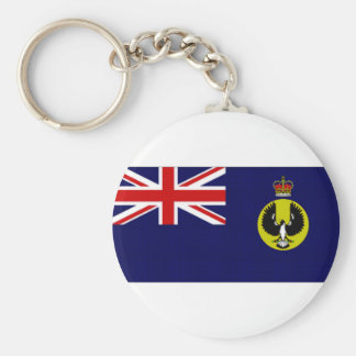 オーストラリアの知事の南オーストラリアの旗 ベーシック丸型缶キーホルダー