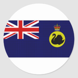 オーストラリアの知事の西オーストラリアの旗 ラウンドシール