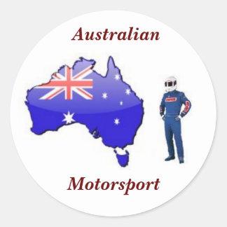 オーストラリアの競争のスーツ、オーストラリア人、Motorsport ラウンドシール