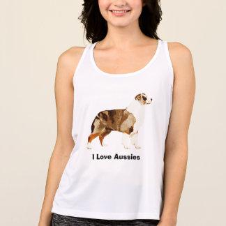 オーストラリアの羊飼いによってカスタマイズTシャツ タンクトップ