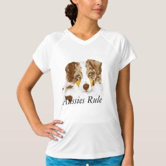 オーストラリアの羊飼いによってカスタマイズTシャツ Tシャツ