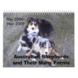 オーストラリアの羊飼いのカレンダー カレンダー