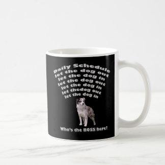 オーストラリアの羊飼いのスケジュール コーヒーマグカップ