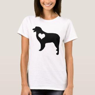 オーストラリアの羊飼いのハートのTシャツ Tシャツ