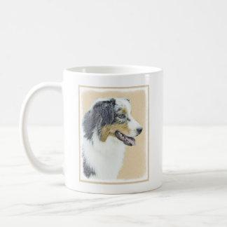 オーストラリアの羊飼いの絵画-元の犬の芸術 コーヒーマグカップ