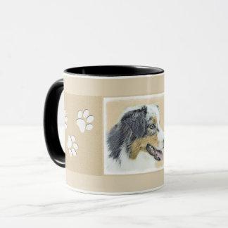 オーストラリアの羊飼いの絵画-元の犬の芸術 マグカップ