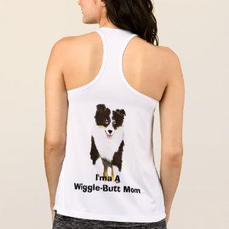 """オーストラリアの羊飼いの""""I'maの振れお尻のお母さん""""のTシャツ タンクトップ"""