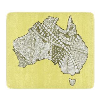 オーストラリアの記念品の地図の芸術 カッティングボード