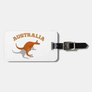 オーストラリアの跳躍のカンガルー ラゲッジタグ