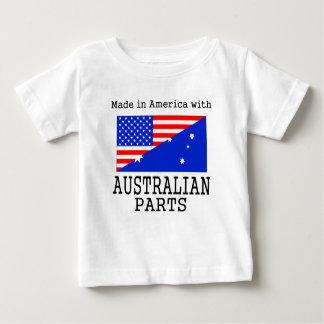 オーストラリアの部品が付いているアメリカで作られる ベビーTシャツ