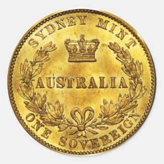 オーストラリアの金ゴールドの主権ヴィンテージ(6/20パック) ラウンドシール