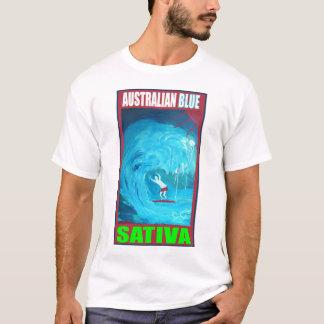 オーストラリアの青いSATIVA Tシャツ