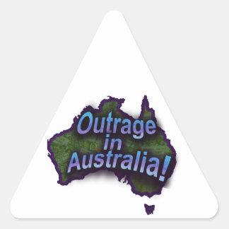 オーストラリアの非道! 三角形シール