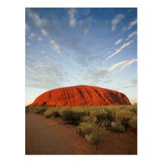 オーストラリアのayersの石 ポストカード
