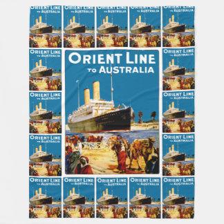 オーストラリアへの東洋ライン フリースブランケット