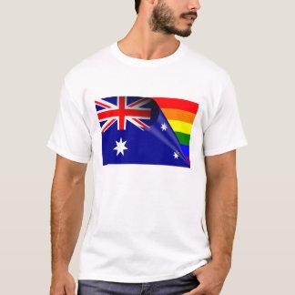 オーストラリアゲイプライドの虹の旗 Tシャツ