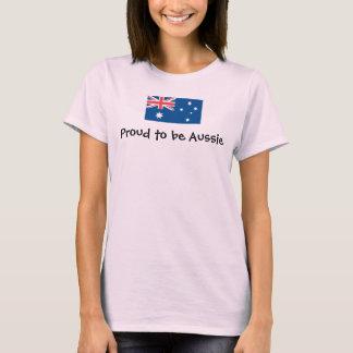 オーストラリアレディース上があること誇りを持った Tシャツ