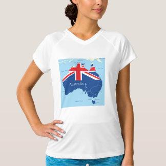 オーストラリアレディース能動態のティーの地図 Tシャツ