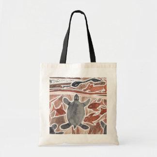 オーストラリア人によっては神話上動物のカメのトートバックが夢を見ます トートバッグ