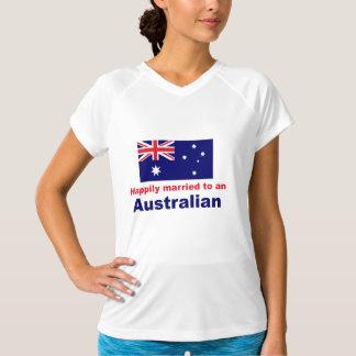 オーストラリア人に幸福に結婚した Tシャツ