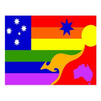 オーストラリア人のゲイプライドの旗 ポストカード