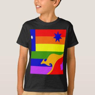 オーストラリア人のゲイプライドの旗 Tシャツ