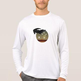 オーストラリア人のCrocの長袖のTシャツ Tシャツ