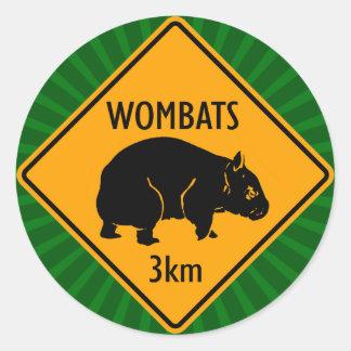 オーストラリア人のWombatsの印(6/20パック) ラウンドシール