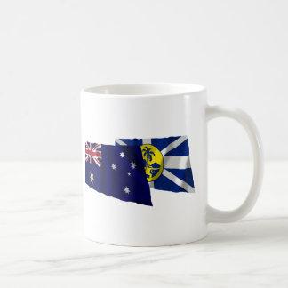 オーストラリア及び主Howe Island Waving Flags コーヒーマグカップ