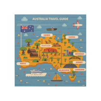 オーストラリア旅行ガイドポスター ウッドウォールアート
