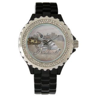 オーストラリア旅行ポスターへのヴィンテージのはえ 腕時計