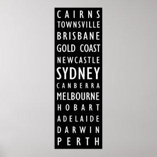 オーストラリア都市ヴィンテージの運輸スクロールポスター ポスター