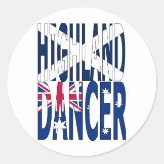 オーストラリア高地のダンサー ラウンドシール