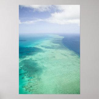 オーストラリア、クイーンズランドの素晴らしいWhitsundayの海岸 ポスター