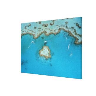 オーストラリア、クイーンズランドのWhitsundayの島、 キャンバスプリント