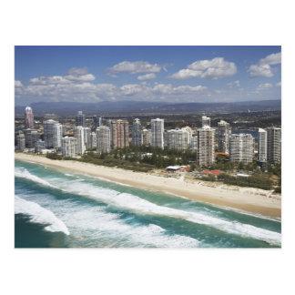 オーストラリア、クイーンズランド、ゴールド・コーストの主要なビーチ- ポストカード