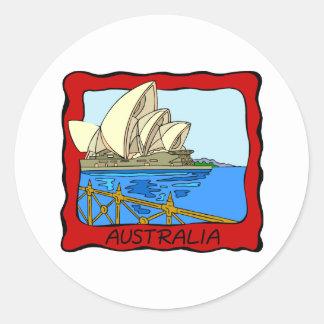 オーストラリア-シドニー・オペラハウス ラウンドシール