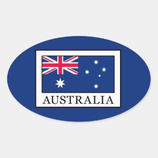 オーストラリア 楕円形シール