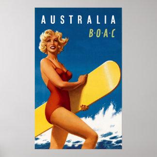 オーストラリア- BOAC ポスター