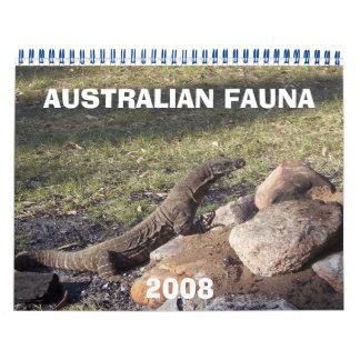 オーストラリアFAUNA2008 カレンダー