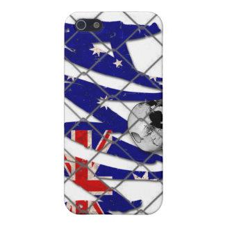オーストラリアMMAのスカルの白のiphone 4ケース iPhone 5 Case