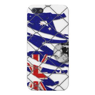 オーストラリアMMAのスカルの白のiphone 4ケース iPhone 5 Cover