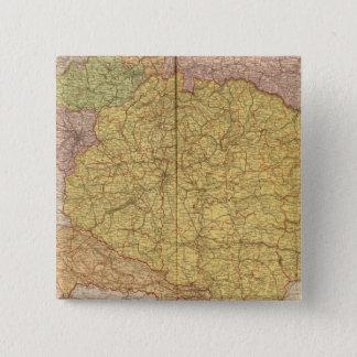 オーストリアおよびハンガリー 5.1CM 正方形バッジ