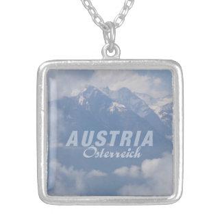 オーストリアのアルプスのネックレス シルバープレートネックレス
