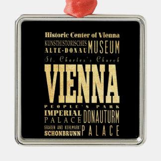 オーストリアのタイポグラフィの芸術のウィーン都市 メタルオーナメント