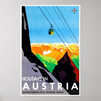 オーストリアの休日はヴィンテージ旅行ポスターを元通りにしました ポスター