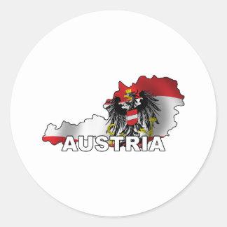 オーストリアの地図 ラウンドシール