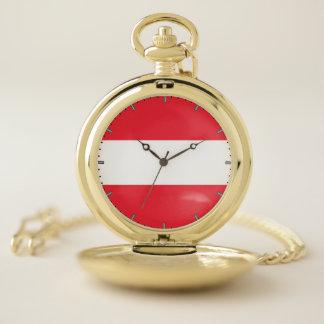 オーストリアの愛国心が強い壊中時計の旗 ポケットウォッチ