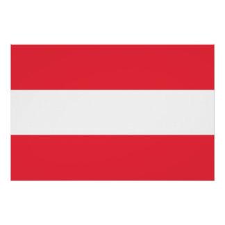 オーストリアの旗が付いている愛国心が強いポスター ポスター