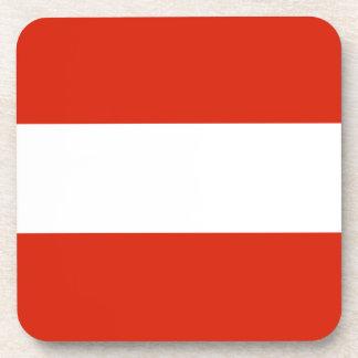 オーストリアの旗のコルクのコースター コースター
